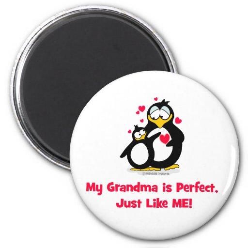 mi abuela es perfecta apenas como mí imán redondo 5 cm
