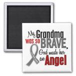 Mi abuela es un cáncer de cerebro del ángel 1 iman para frigorífico