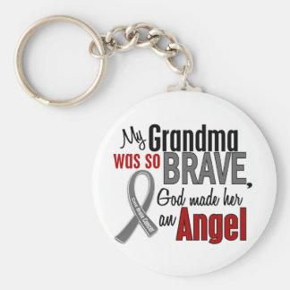 Mi abuela es un cáncer de cerebro del ángel 1 llaveros