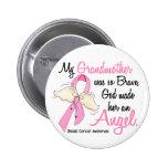Mi abuela es un cáncer de pecho del ángel 2 pin redondo de 2 pulgadas