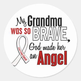 Mi abuela es un cáncer de pulmón del ángel pegatina redonda
