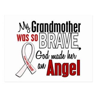 Mi abuela es un cáncer de pulmón del ángel tarjetas postales