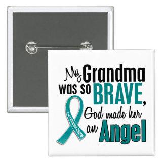 Mi abuela es un cáncer ovárico del ángel 1 pin cuadrado