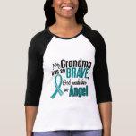 Mi abuela es un cáncer ovárico del ángel 1 camisetas