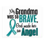 Mi abuela es un cáncer ovárico del ángel 1 postal