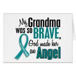 Mi abuela es un cáncer ovárico del ángel 1 tarjetas