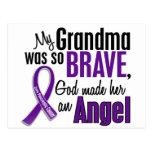 Mi abuela es un cáncer pancreático del ángel tarjeta postal