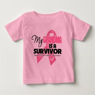 Mi abuela es un superviviente - cáncer de pecho playeras