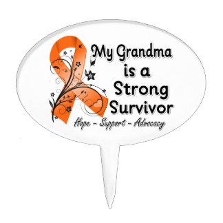Mi abuela es una cinta fuerte del naranja del supe decoraciones de tartas