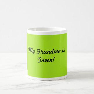 Mi abuela es verde taza de café