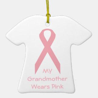 Mi abuela lleva rosa ornamento de navidad