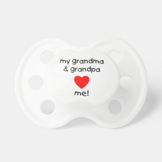 mi abuela y abuelo me aman chupete de bebe
