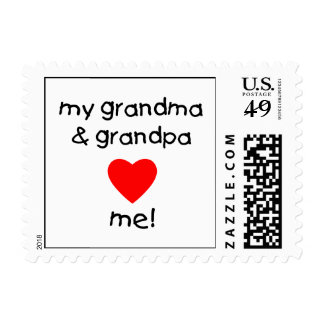 mi abuela y abuelo me aman estampilla