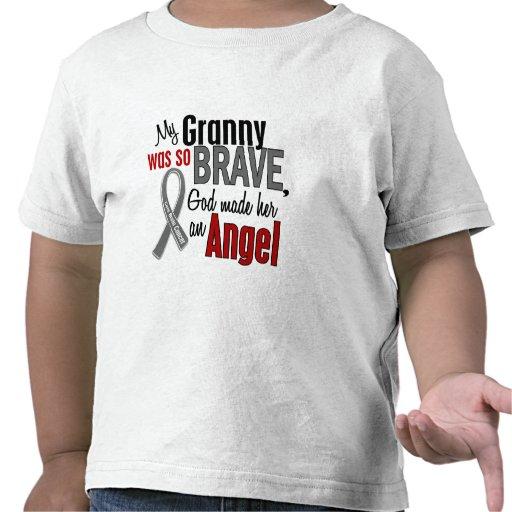 Mi abuelita es un cáncer de cerebro del ángel 1 camisetas