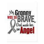 Mi abuelita es un cáncer de cerebro del ángel 1 tarjetas postales