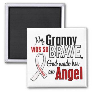 Mi abuelita es un cáncer de pulmón del ángel imán cuadrado