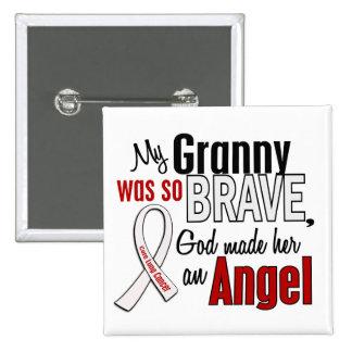 Mi abuelita es un cáncer de pulmón del ángel pin cuadrado