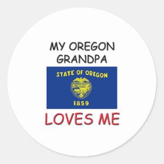 Mi abuelo de Oregon me ama Pegatina Redonda