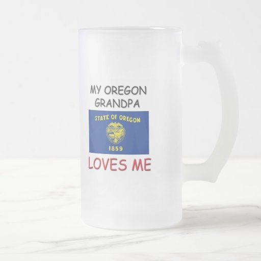 Mi abuelo de Oregon me ama Taza Cristal Mate