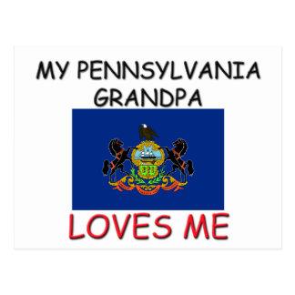 Mi abuelo de Pennsylvania me ama Postal