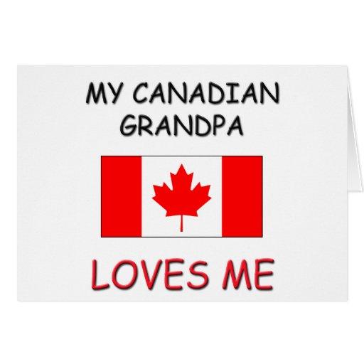Mi abuelo del canadiense me ama tarjeta