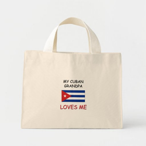 Mi abuelo del cubano me ama bolsa tela pequeña