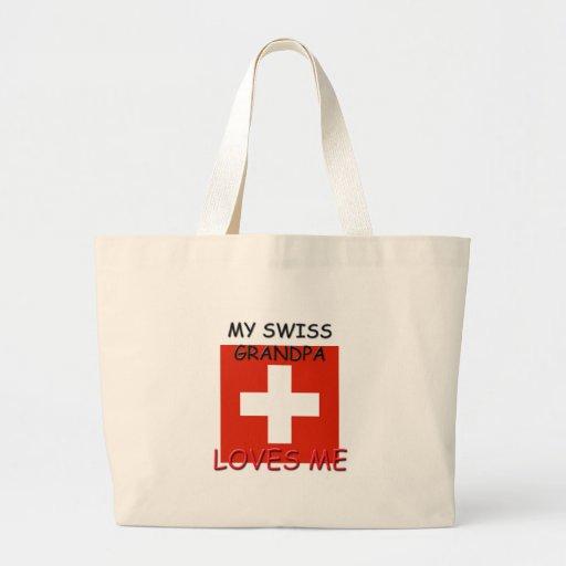 Mi abuelo del suizo me ama bolsa