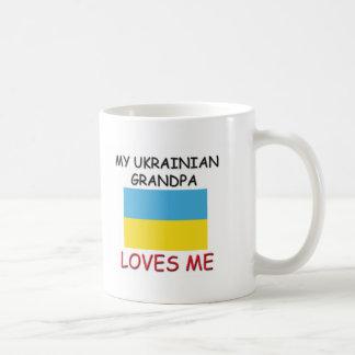 Mi abuelo del ucraniano me ama taza de café