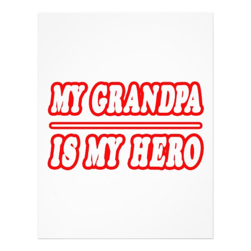 Mi abuelo es mi héroe tarjeta publicitaria