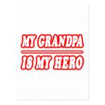 Mi abuelo es mi héroe tarjetas postales