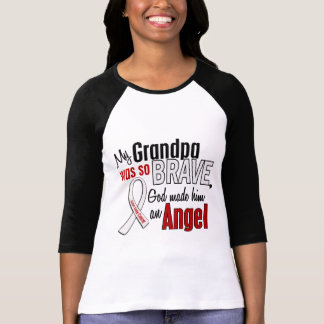 Mi abuelo es un cáncer de pulmón del ángel camisetas