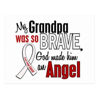 Mi abuelo es un cáncer de pulmón del ángel tarjeta postal