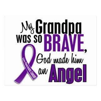 Mi abuelo es un cáncer pancreático del ángel tarjeta postal