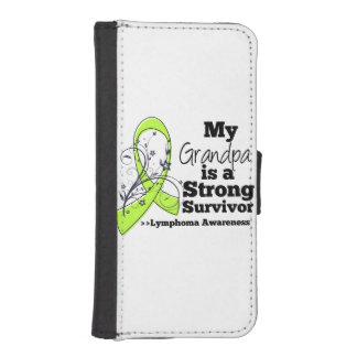 Mi abuelo es un superviviente fuerte del linfoma billeteras para teléfono