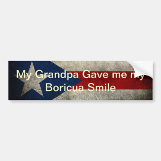 Mi abuelo me dio mi sonrisa de Boricua Pegatina Para Auto
