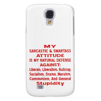 Mi actitud sarcástica y de Smartass es mi natural Funda Para Galaxy S4