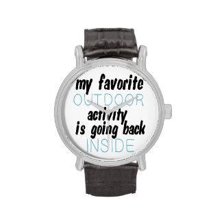 Mi actividad al aire libre preferida reloj de mano