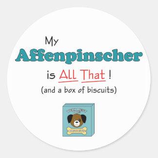 ¡Mi Affenpinscher es todo el eso! Etiqueta Redonda