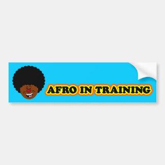 Mi afro está aprendiendo cómo ser rizado pegatina de parachoque
