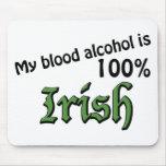 Mi alcohol en sangre es irlandés del 100% alfombrilla de ratón
