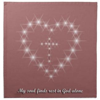 Mi alma encuentra resto en dios solo servilletas de papel