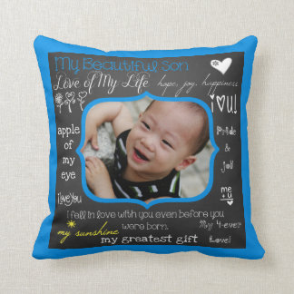 Mi almohada de tiro de encargo de la foto del hijo