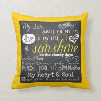 Mi almohada del amor y de la inspiración del hijo