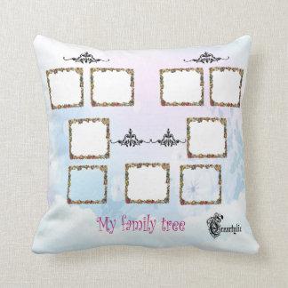 Mi almohada del árbol de familia cojín decorativo