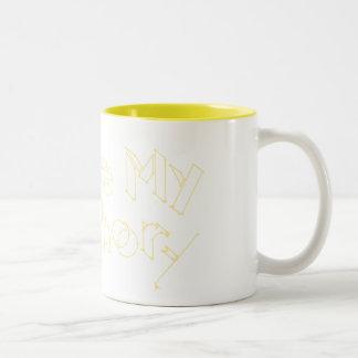 Mi amarillo del ancla el | taza dos tonos