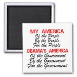 Mi América - América de Obama Iman Para Frigorífico