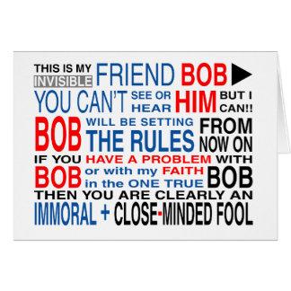 Mi amigo Bob Tarjeta De Felicitación