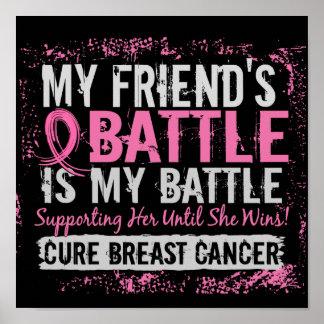 Mi amigo del cáncer de pecho demasiado 2 de la bat póster
