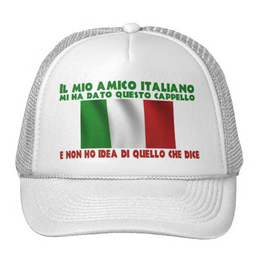 Mi amigo italiano me dio este gorra… gorro de camionero