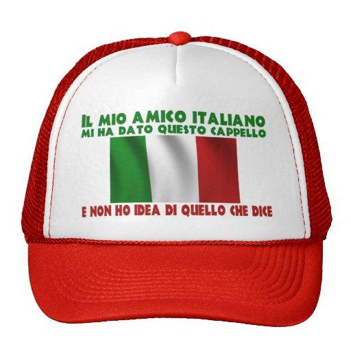 Mi amigo italiano me dio este gorra…